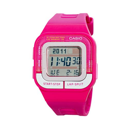 Casio Women's Runner Series 60-Lap Digital Chronograph Watch