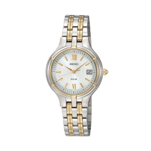 Seiko Women's Two Tone Stainless Steel Solar Watch - SUT020