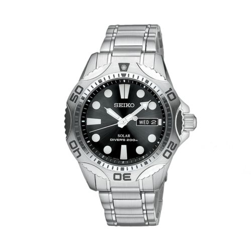 Seiko Solar Stainless Steel Dive Watch - Men
