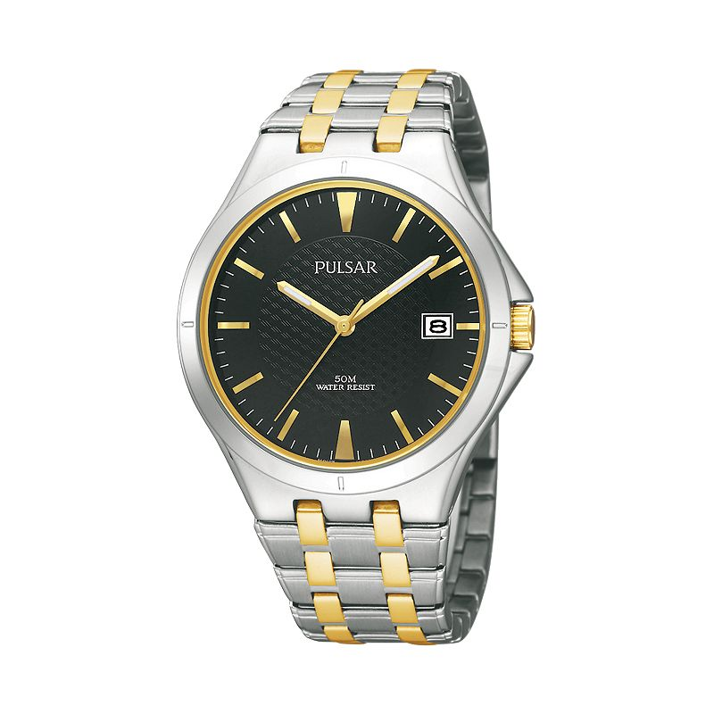 Pulsar Men's Two Tone Stainless Steel Watch - PXH909