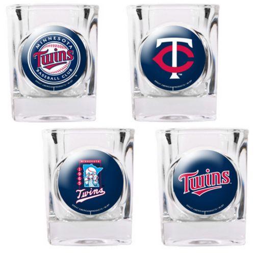 Minnesota Twins 4-pc. Square Shot Glass Set