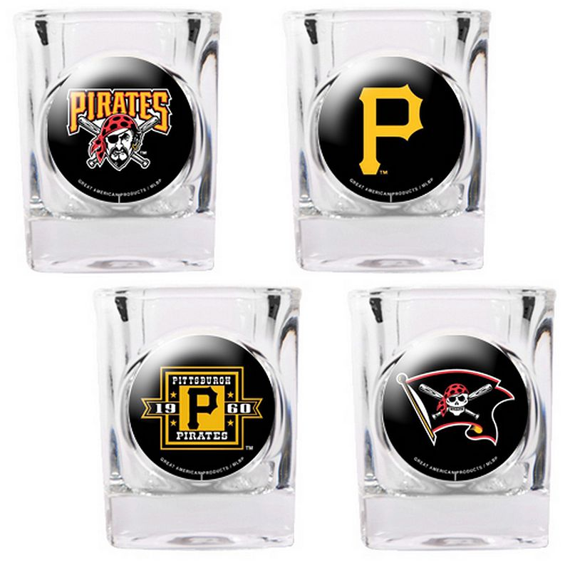 Pittsburgh Pirates 4-pc. Square Shot Glass Set