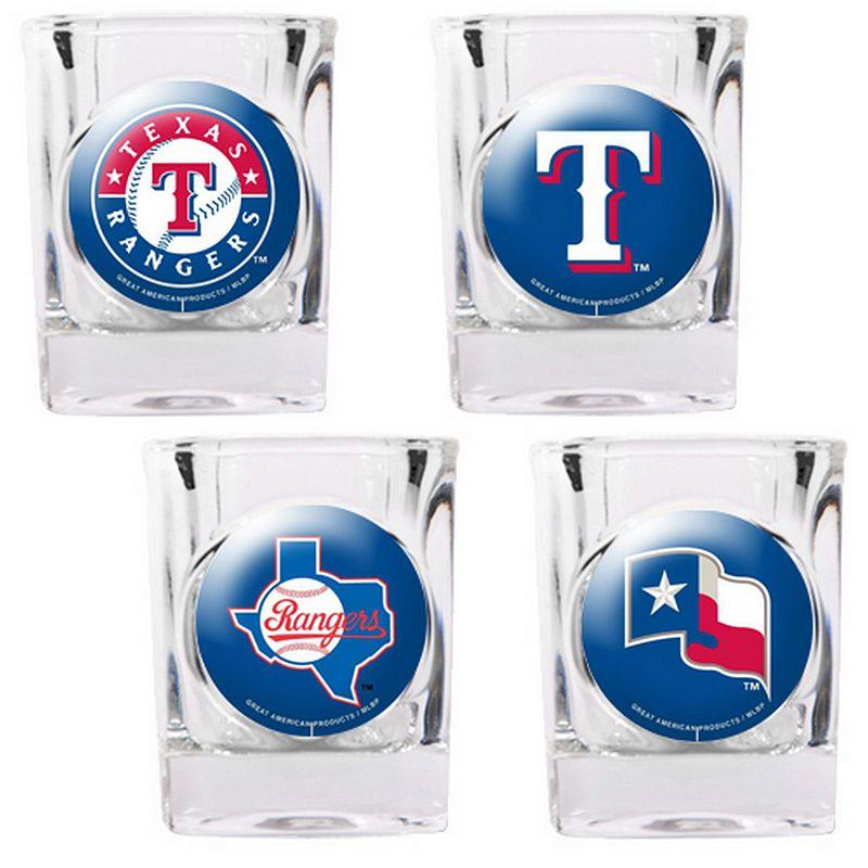 Texas Rangers 4-pc. Square Shot Glass Set