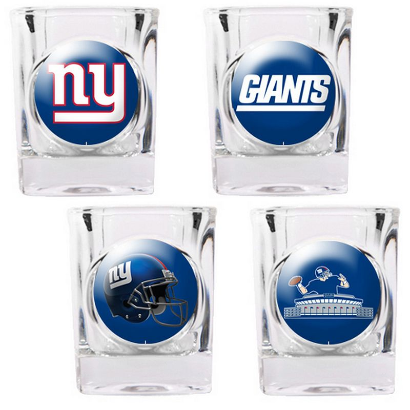 New York Giants 4-pc. Square Shot Glass Set