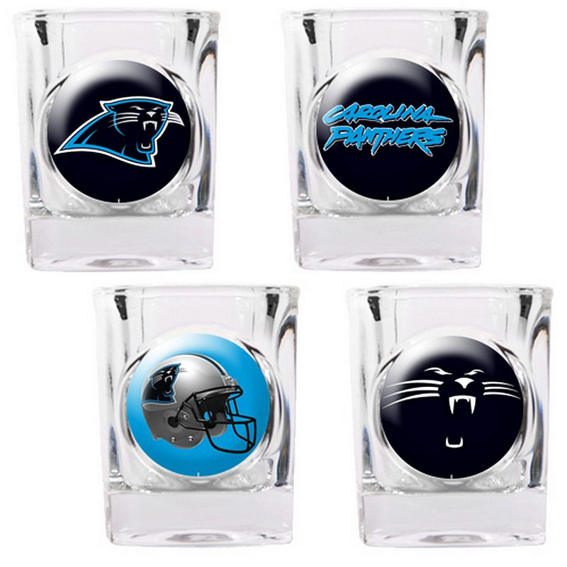Carolina Panthers 4-pc. Square Shot Glass Set