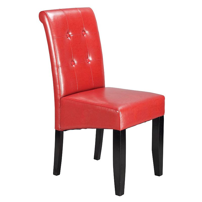 Office Star Parsons Button Back Dining Chair DealTrend