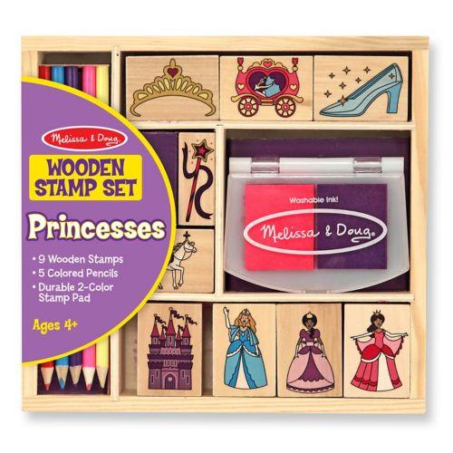 Melissa and Doug Wooden Princess Stamp Set