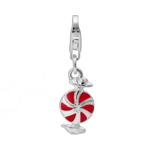 Sterling Silver Peppermint Charm