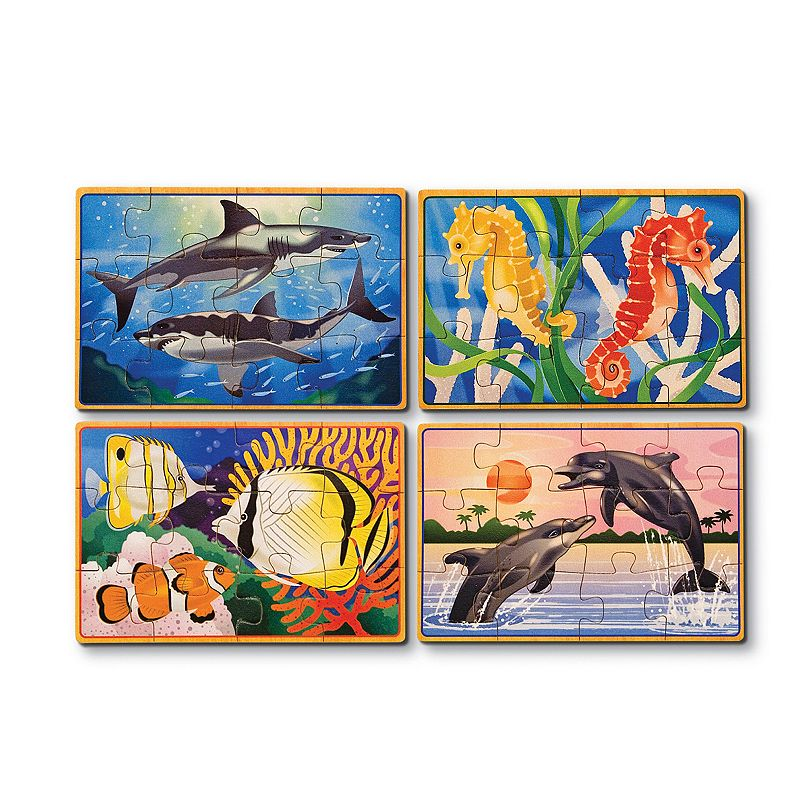 Melissa and Doug Sea Life Puzzles in a Box
