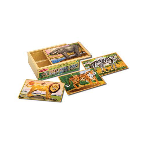 Melissa and Doug Wild Animals Jigsaw Puzzle Boxed Set
