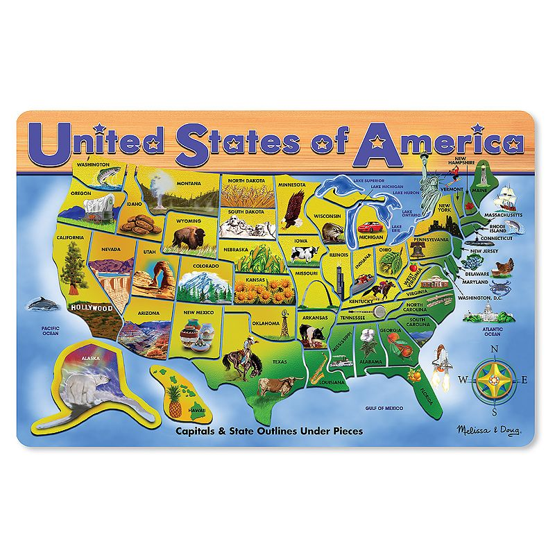 Melissa and Doug USA Wooden Puzzle