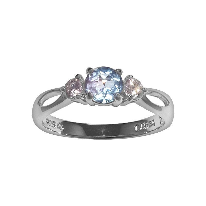 Womens blue cubic zirconia ring kohl 39 s for Kohls jewelry mens rings