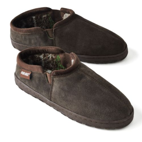 MUK LUKS Leather Berber Fleece Clog Slippers - Men