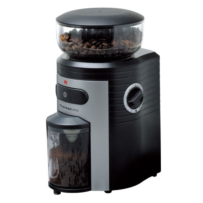 Espressione Conical Burr Coffee Grinder, Black