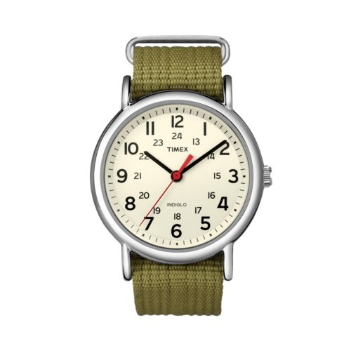 Timex Weekender Silver Tone Watch - T2N651KY