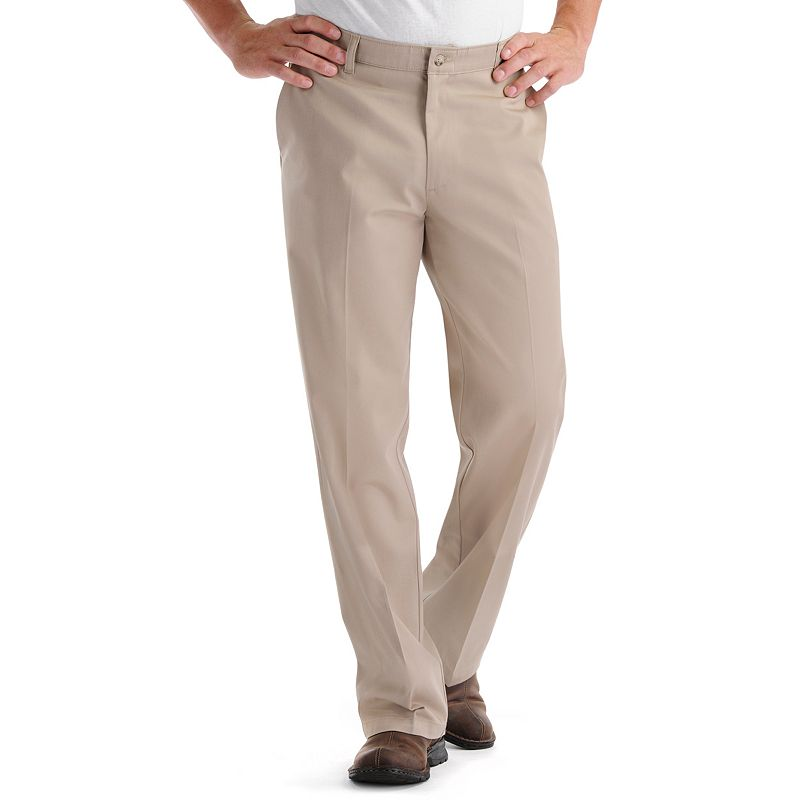 Men's Lee Comfort Fit Flat-Front Pants