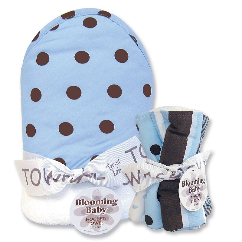 Trend Lab Max Dot 6-pc. Hooded Towel and Washcloth Bouquet Set