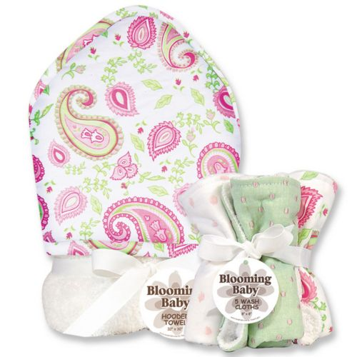Trend Lab Paisley 6-pc. Hooded Towel and Washcloth Bouquet Set