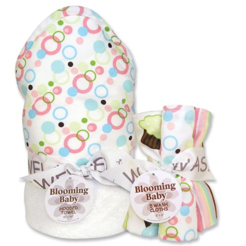 Trend Lab Cupcake 6-pc. Hooded Towel and Washcloth Bouquet Set