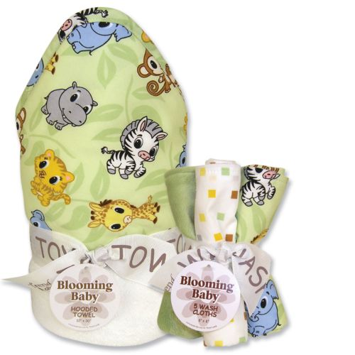 Trend Lab Chibi Zoo 6-pc. Hooded Towel and Washcloth Bouquet Set