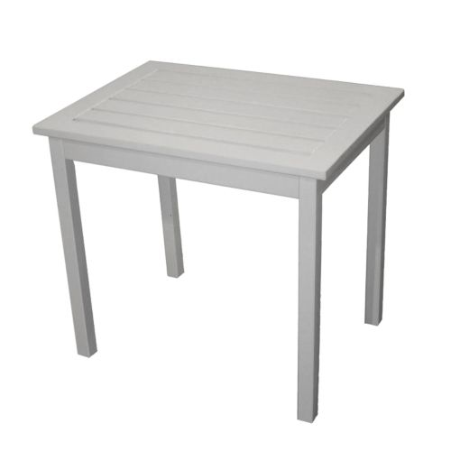 Rectangular White Patio Side Table