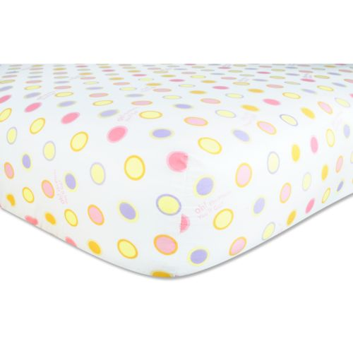 Dr. Seuss Oh The Places You'll Go Fitted Crib Sheet by Trend Lab - Pink