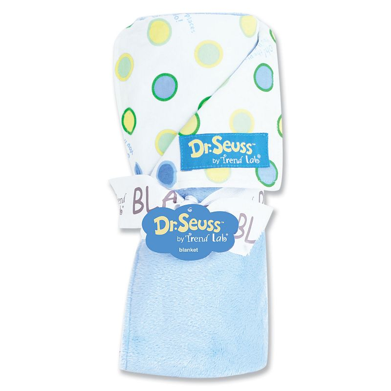 Dr. Seuss Oh The Places You'll Go Receiving Blanket by Trend Lab - Blue