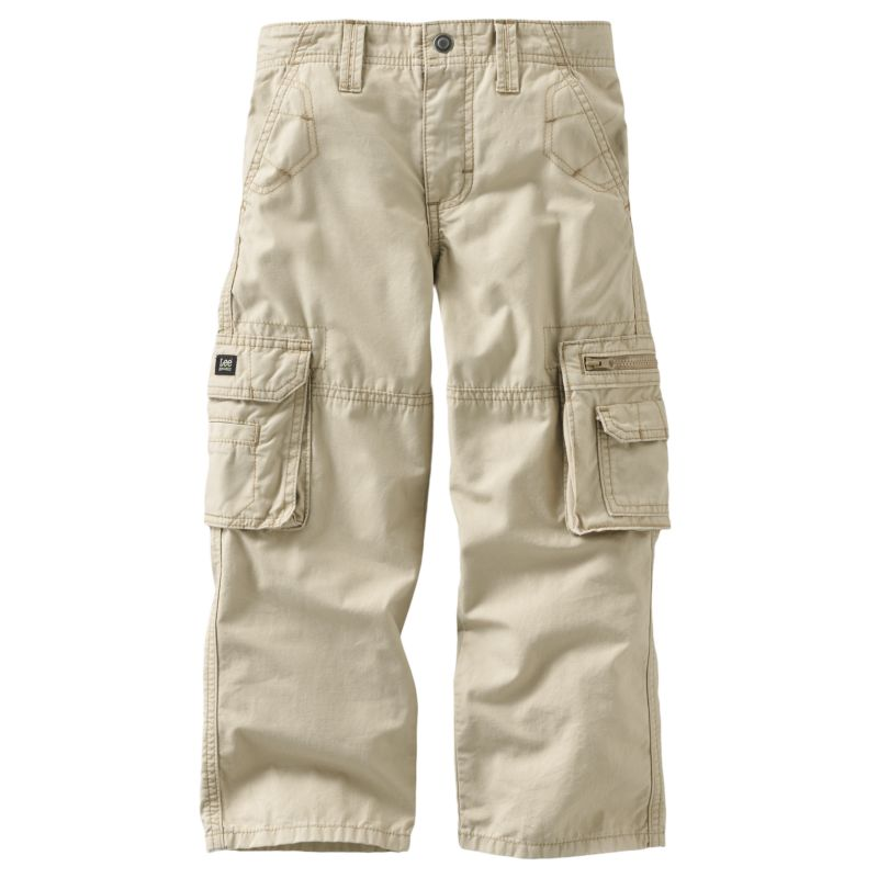 Boys Khaki Cargo Pants