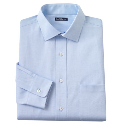 Big & Tall Croft & Barrow® Classic-Fit Solid Spread-Collar Dress Shirt