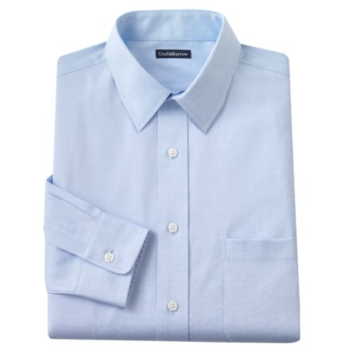 Big & Tall Croft & Barrow® Classic-Fit Solid Easy-Care Point-Collar Dress Shirt