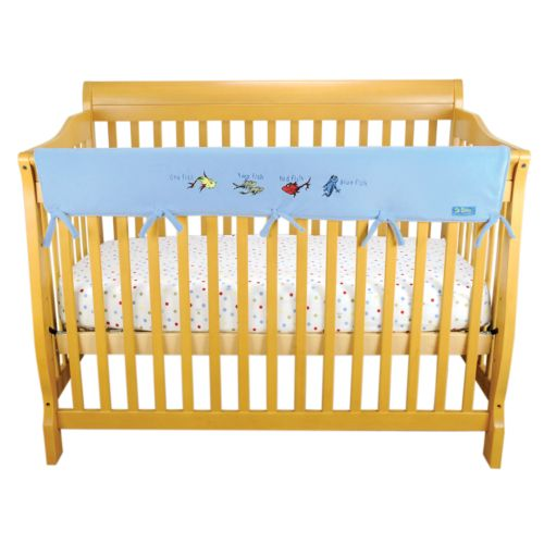 Dr. Seuss One Fish, Two Fish Convertible Fleece Crib Rail Cover by Trend Lab