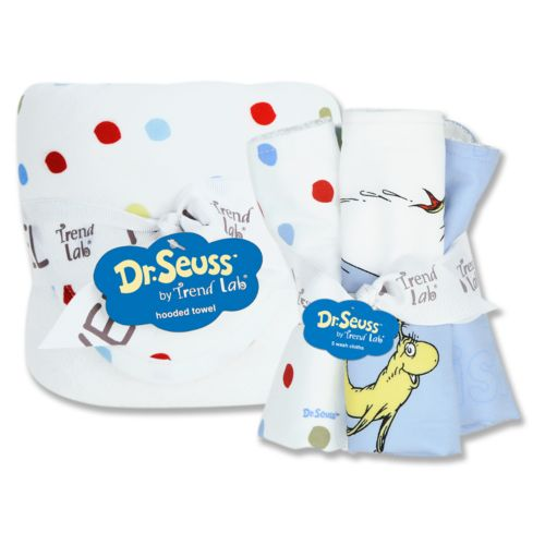 Dr. Seuss One Fish, Two Fish 6-pc. Hooded Towel and Washcloth Bouquet Set by Trend Lab