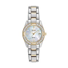 Citizen Eco-Drive Women's Regent Two Tone Stainless Steel Watch EW1824-57D