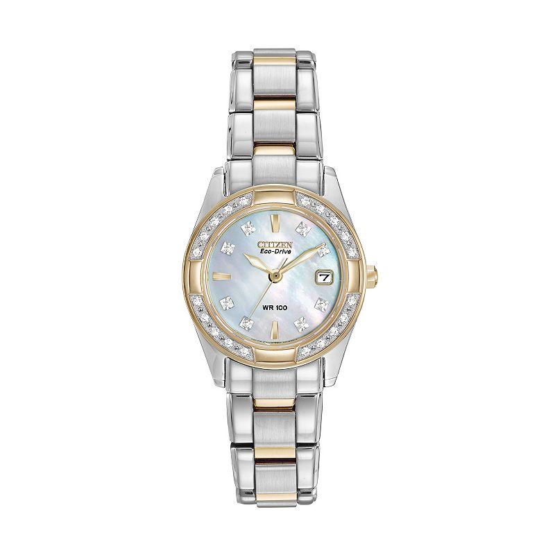 Citizen Eco-Drive Women's Regent Two Tone Stainless Steel Watch - EW1824-57D