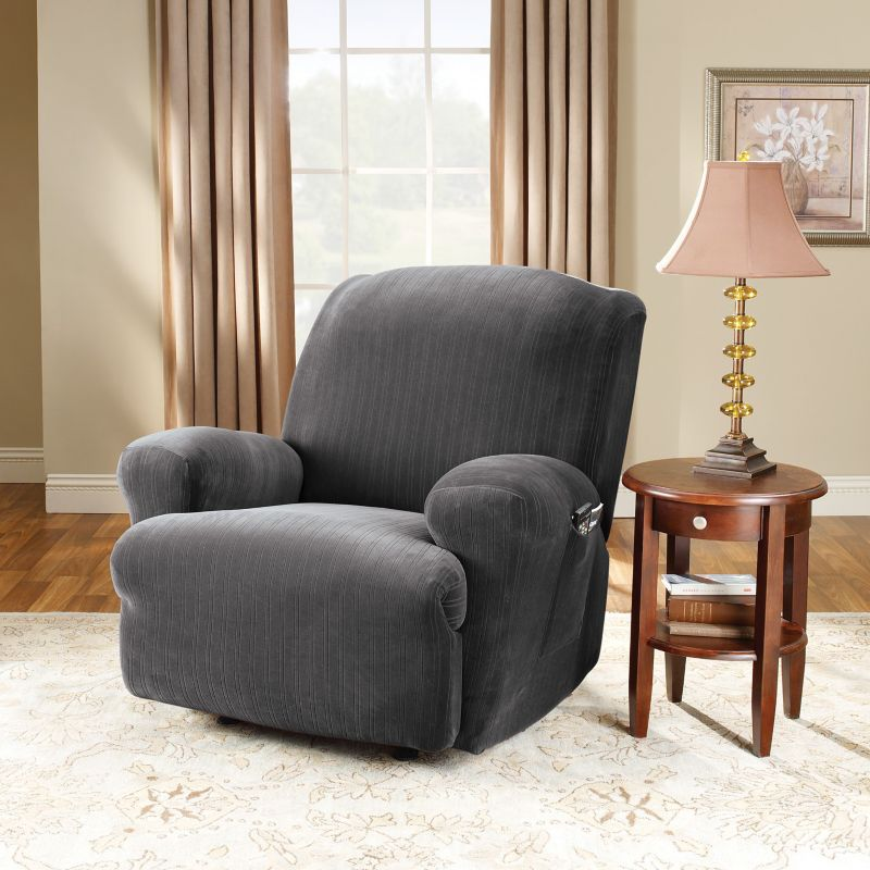 Sure Fit Stretch Pin Striped Recliner Slipcover
