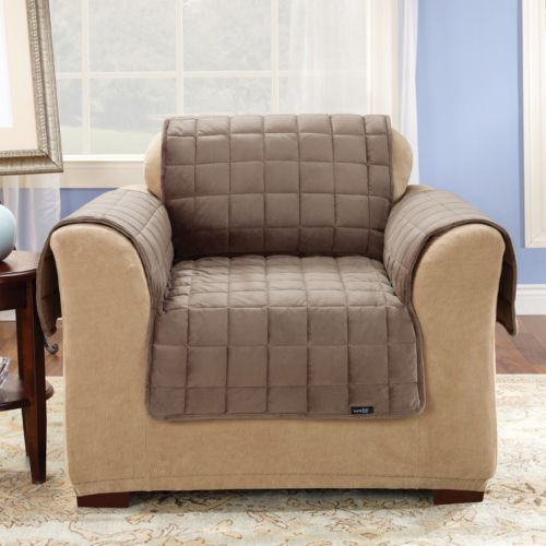 Sure Fit Velvet Chair Pet Throw