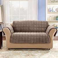 Sure Fit Velvet Loveseat Pet Throw