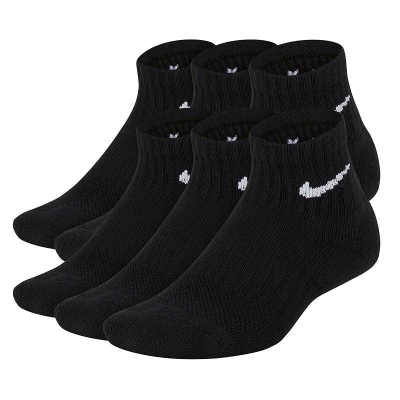 Boys 8-20 Nike 6-pk. Performance Quarter Socks