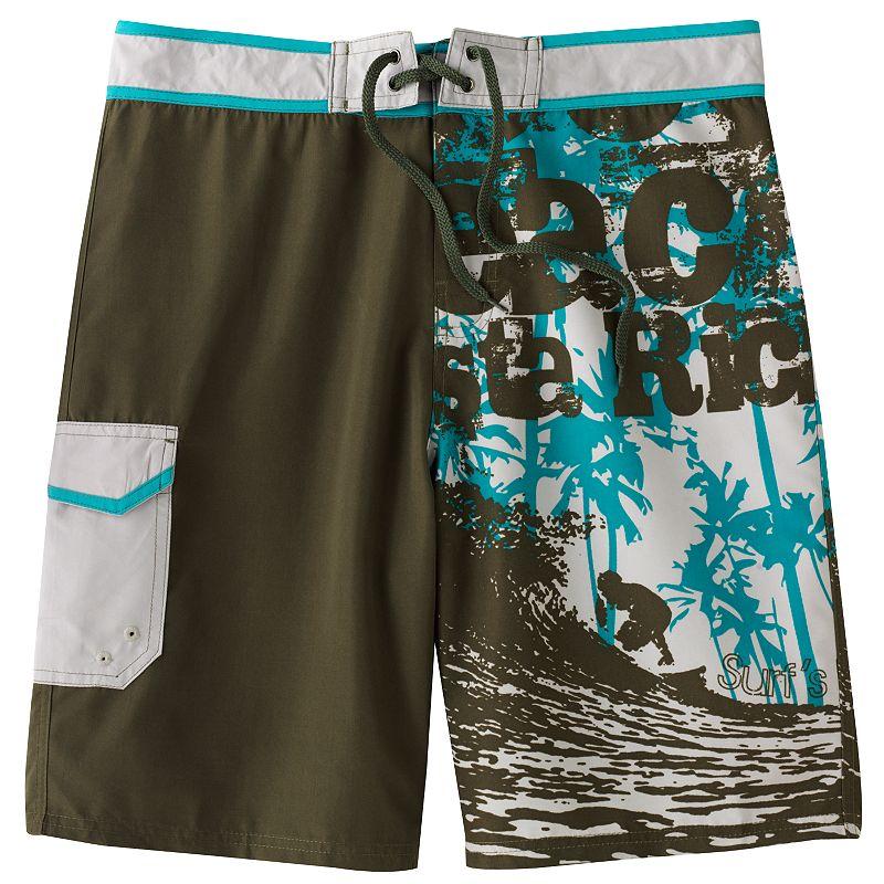 Men's Beach Rays Colorblock Board Shorts