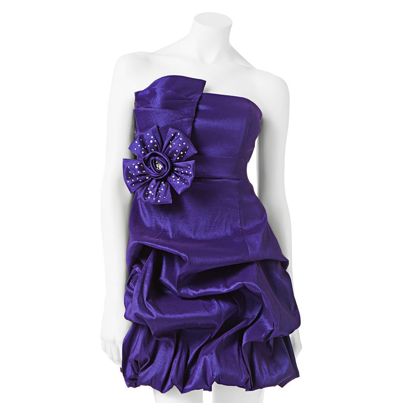Juniors' City Triangles Embellished Pick Up-Style Strapless Dress