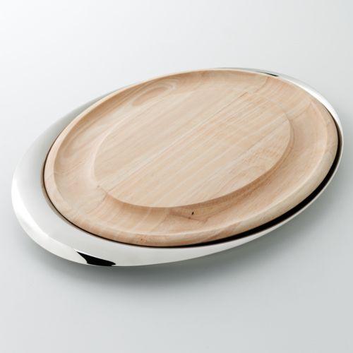 Yamazaki Tantalyn Oval Cheese Tray and Carving Board