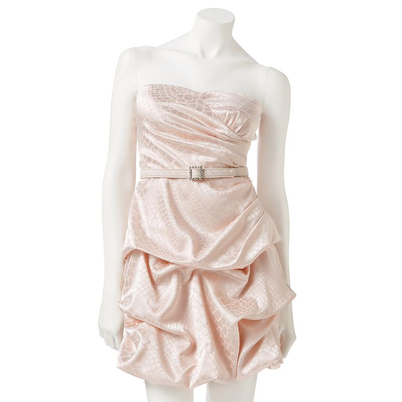 Juniors' City Triangles Pick Up-Style Bubble Strapless Dress