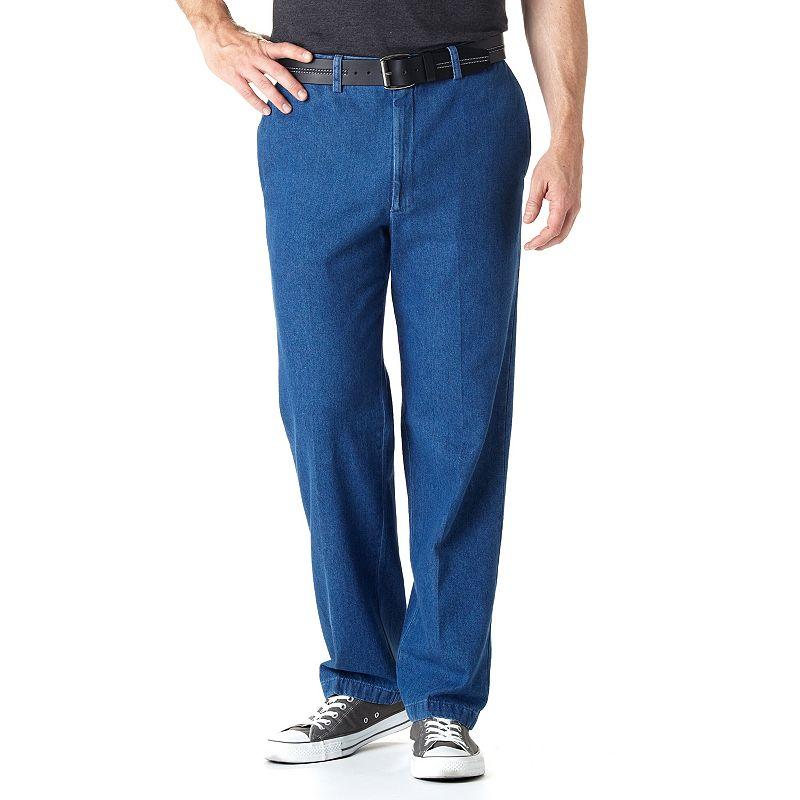 Men's Haggar® Work to Weekend® Classic-Fit Flat-Front Denim Pants