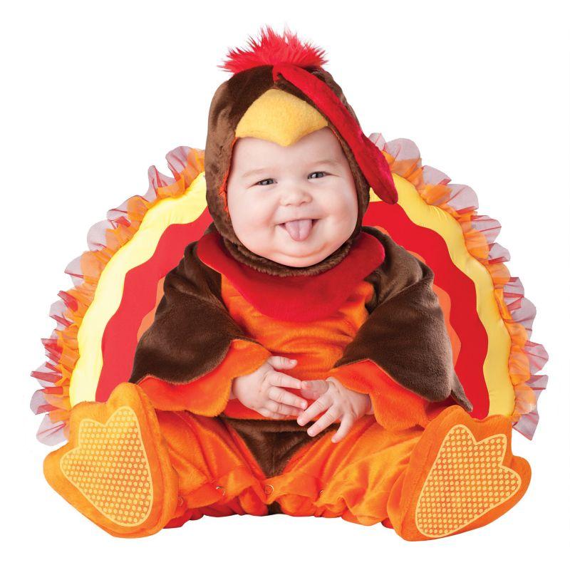 Lil' Gobbler Costume - Baby/Toddler (Orange/Brown)