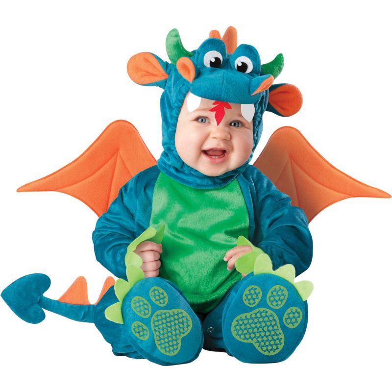 Dinky Dragon Costume - Baby/Toddler (Orange/Blue/Green)