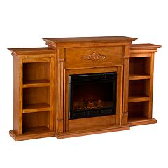 Tennyson Bookcase Electric Fireplace by
