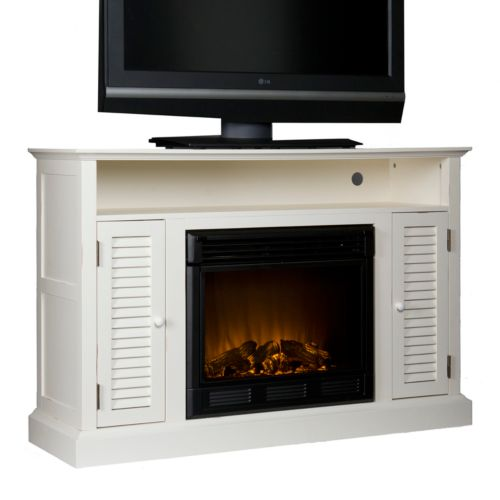 Antebellum Media Stand and Electric Fireplace