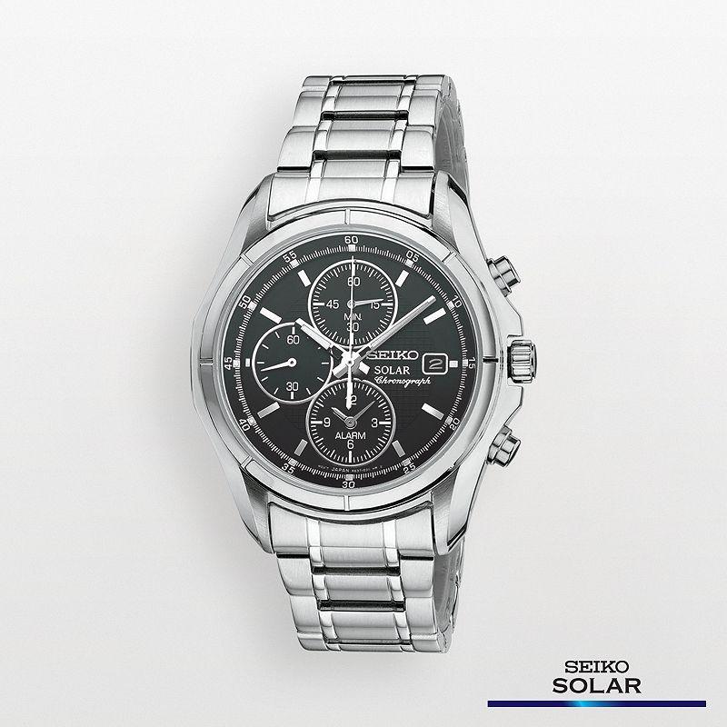 Seiko Men's Stainless Steel Solar Chronograph Watch - SSC001