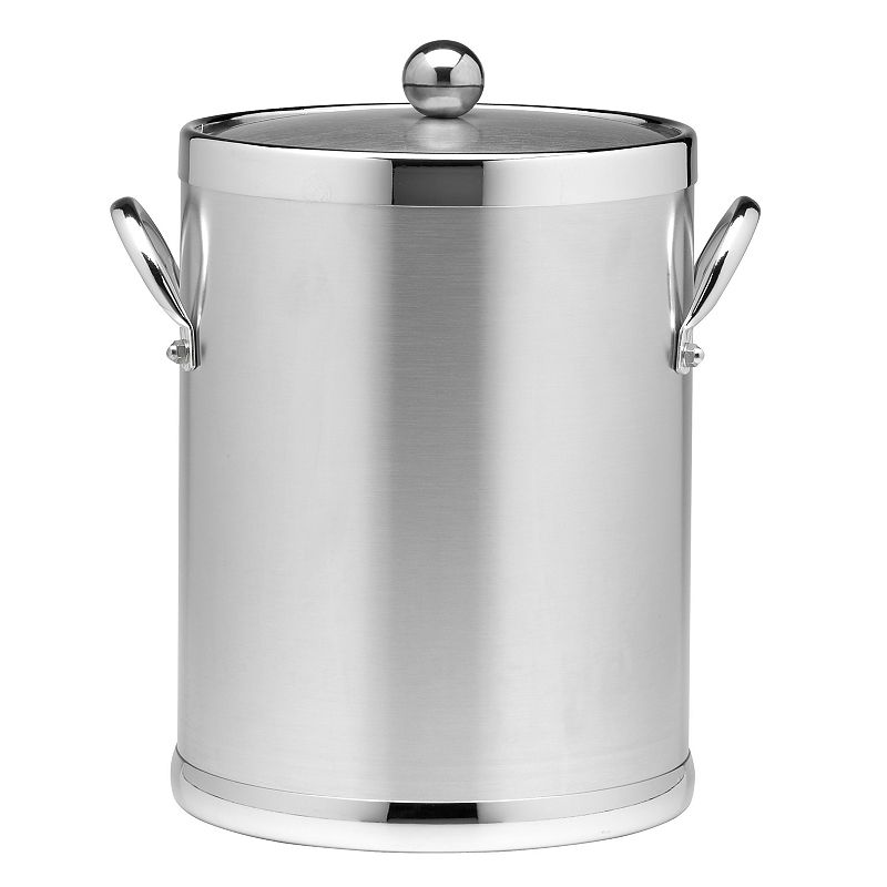 Stainless Steel Brushed Chrome 5-qt. Ice Bucket