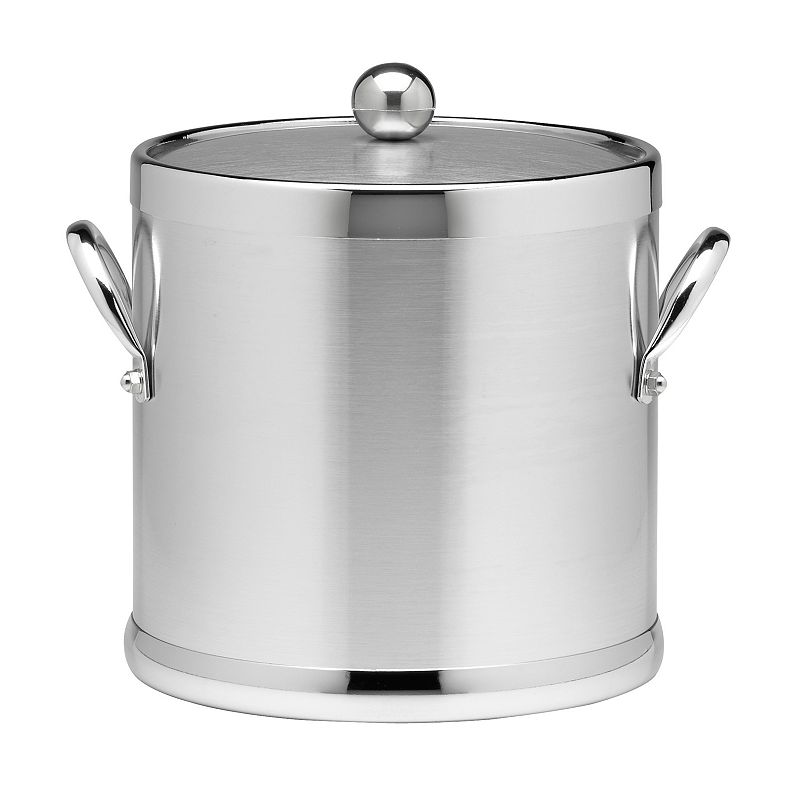 Stainless Steel Brushed Chrome 3-qt. Ice Bucket